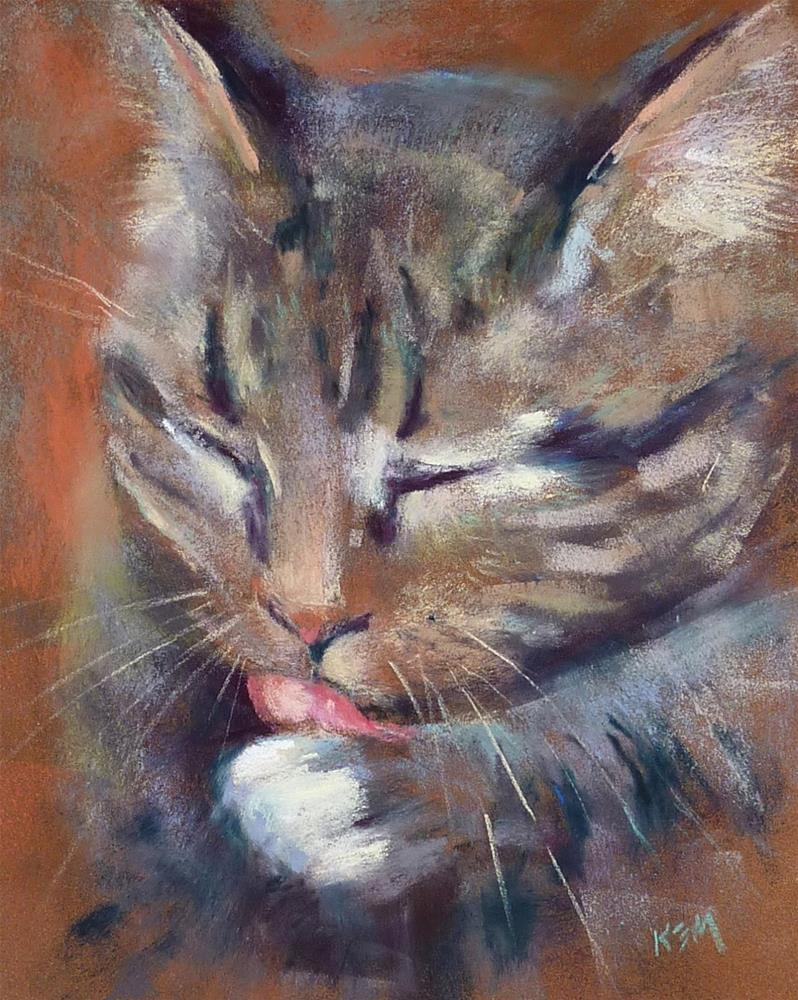 """How to Paint Whiskers with Pastels"" original fine art by Karen Margulis"