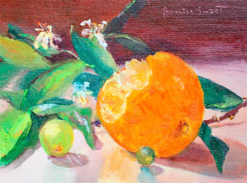"""Oranges"" original fine art by Pamela Sweet"