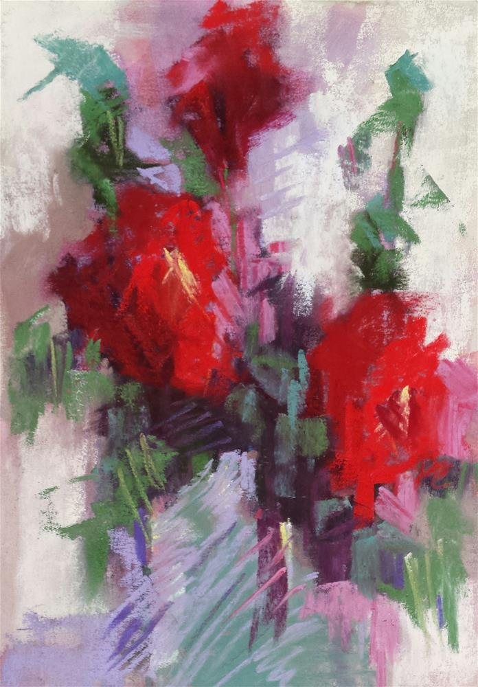 """Reds"" original fine art by Cindy Haase"