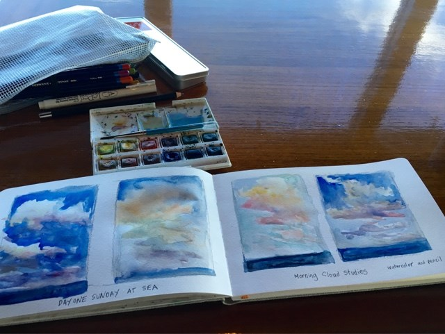 """Cloud Studies at Sea"" original fine art by Karen Margulis"