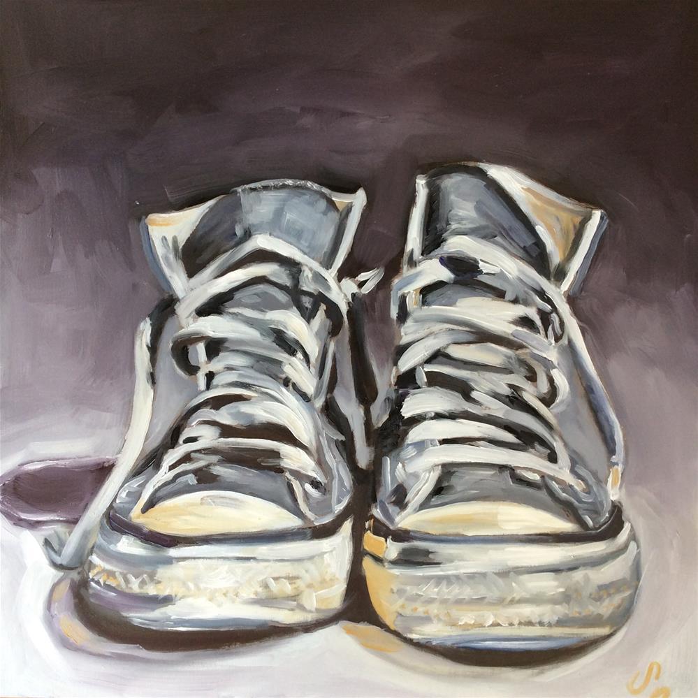 """Old chucks"" original fine art by Sonja Neumann"