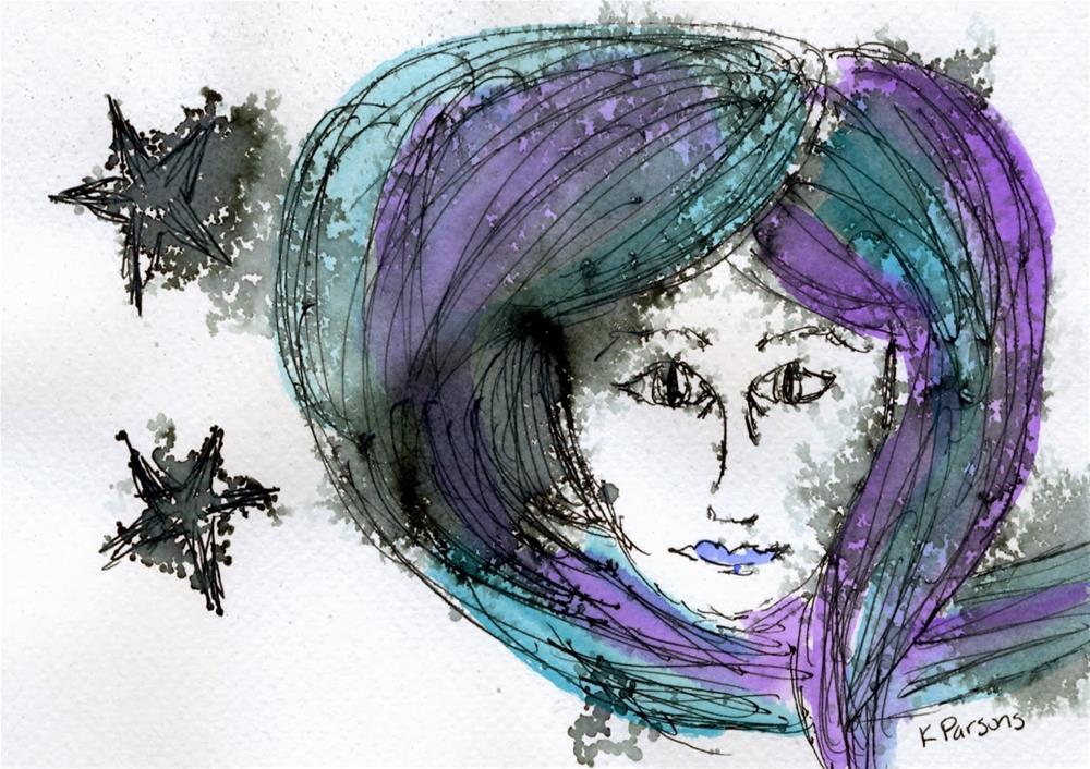 """Stardust"" original fine art by Kali Parsons"