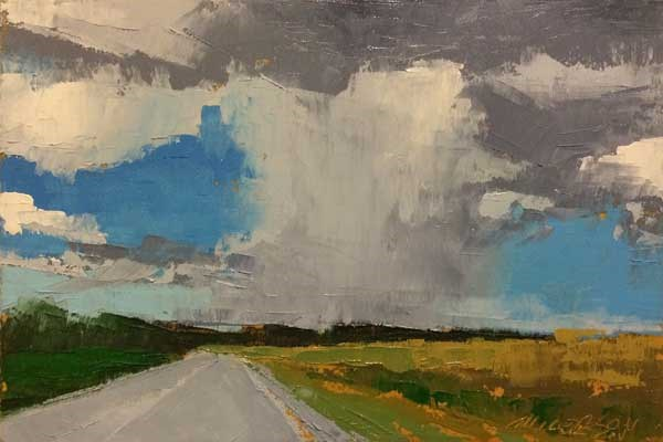 """Late Summer Fields with Rain"" original fine art by Mary Gilkerson"