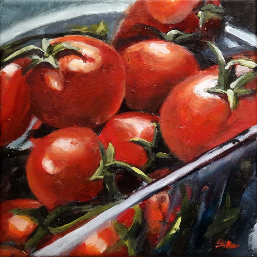 """1658 Vine Tomatos"" original fine art by Dietmar Stiller"
