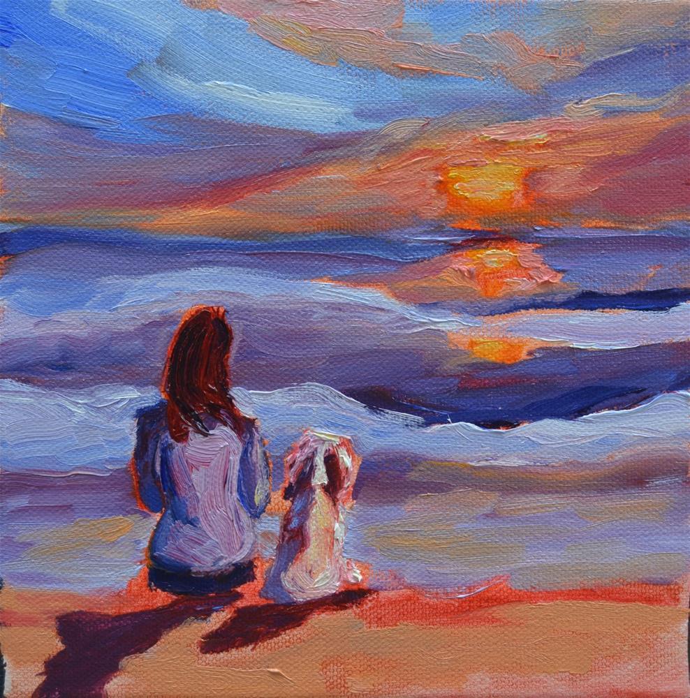 """Unconditional Love"" original fine art by Loralee Chapleau"