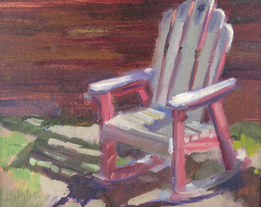 """Ranch Rocker"" original fine art by Pam Holnback"