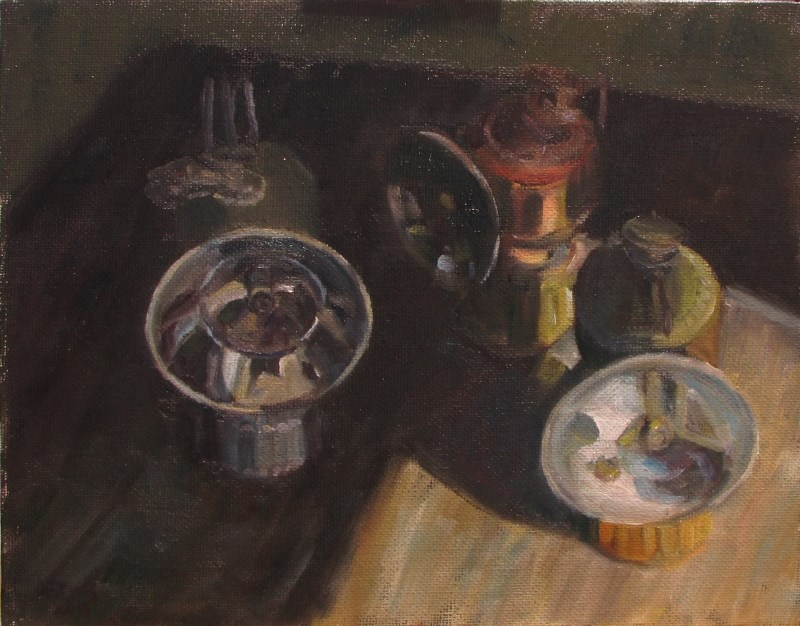 """Carbide Lanterns"" original fine art by Christine Lewis"