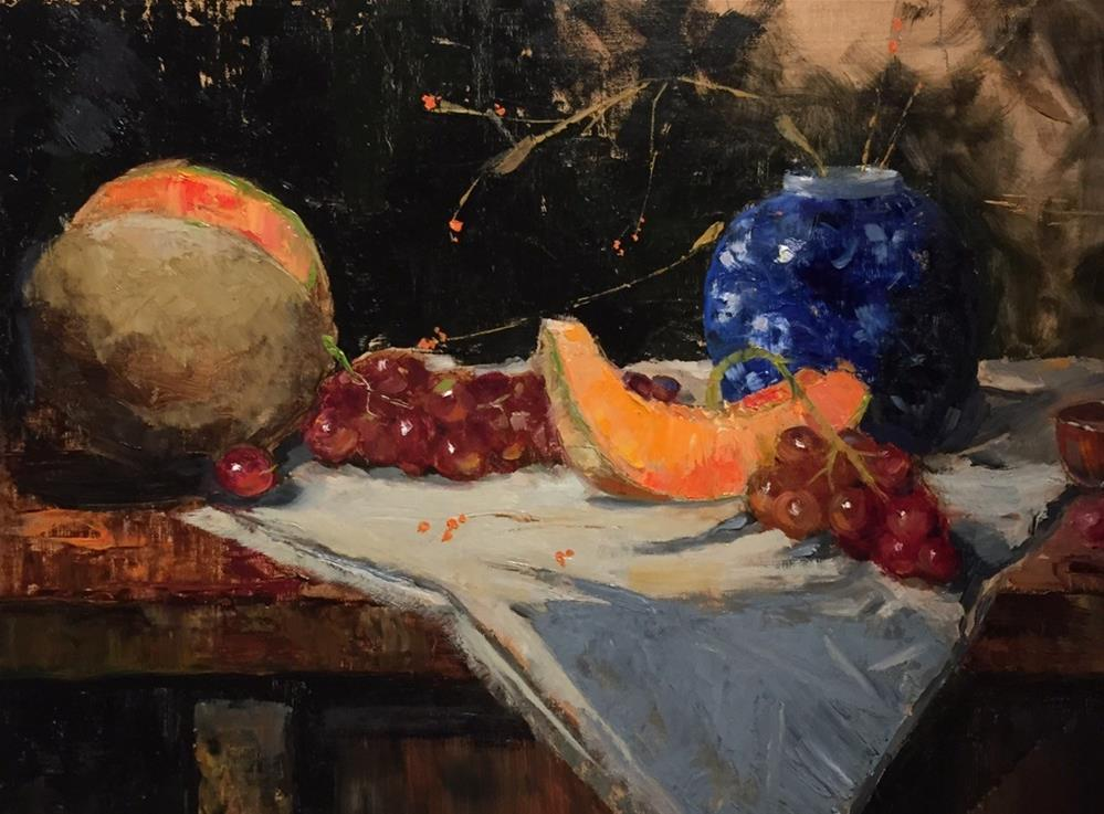 """Blue Moon"" original fine art by Barbara Fluty"