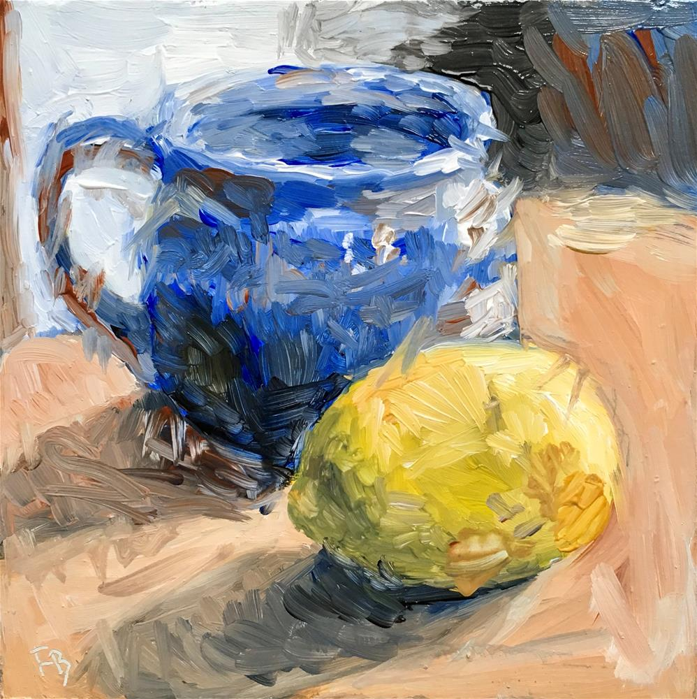 """105 Cup With Lemon"" original fine art by Fred Bell"
