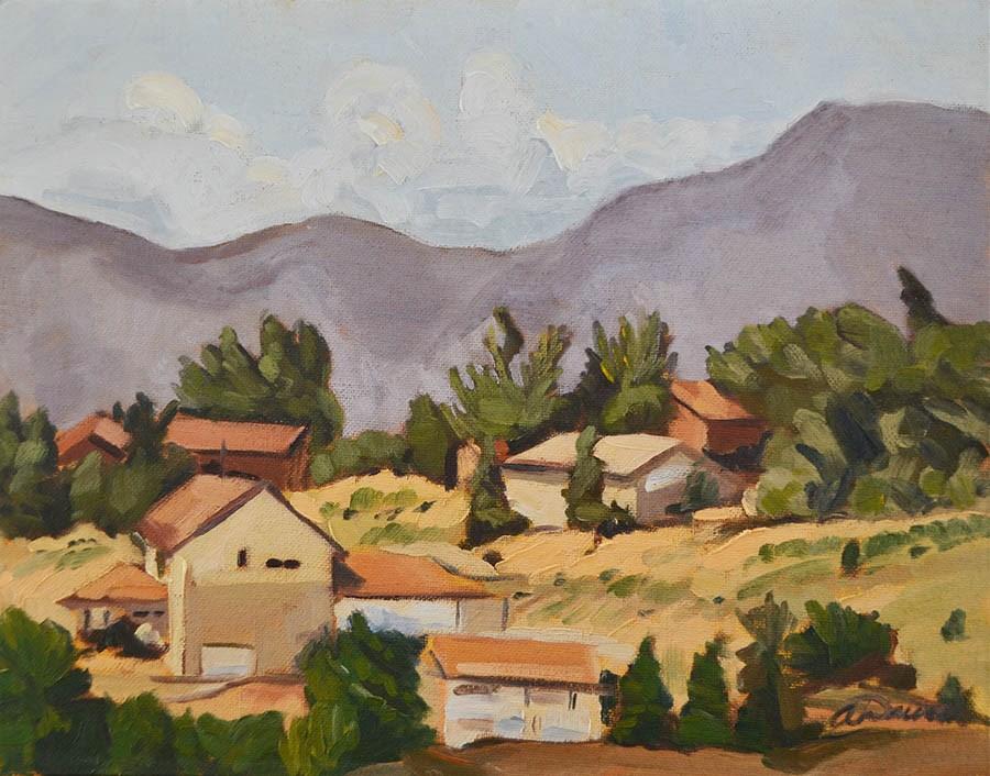 """""""Hillside 2"""" original fine art by April  Dawes"""