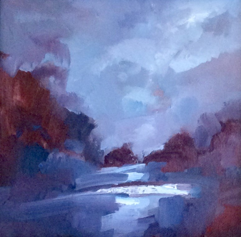 """In Blue"" original fine art by Anne Wood"