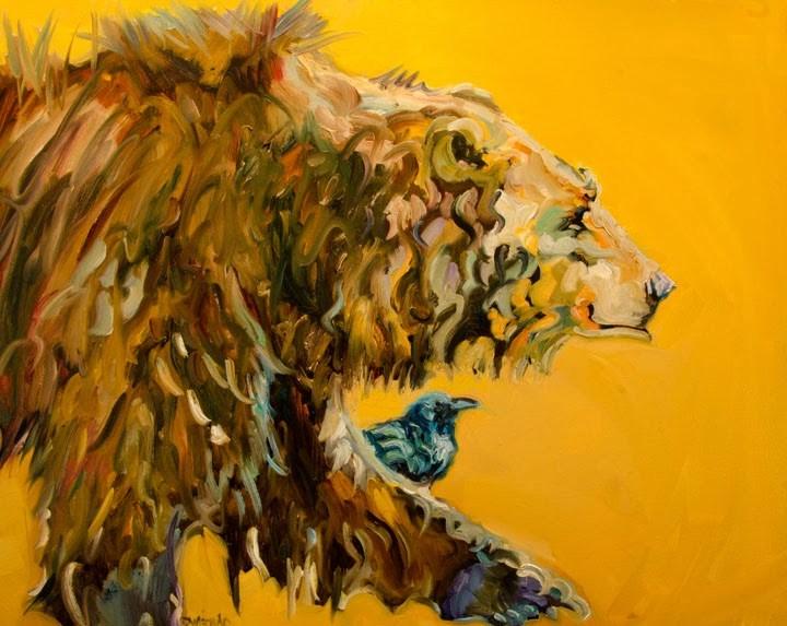 """ARTOUTWEST DIANE WHITEHEAD FINE ART OIL PAINTING Bear Wildlife Animal art"" original fine art by Diane Whitehead"