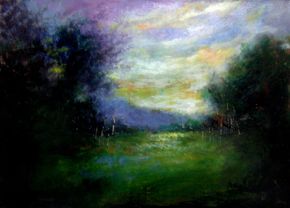 """Between the Woods"" original fine art by Bob Kimball"