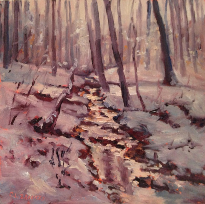"""Ice Storm Morning, Day 64"" original fine art by Claudia L Brookes"