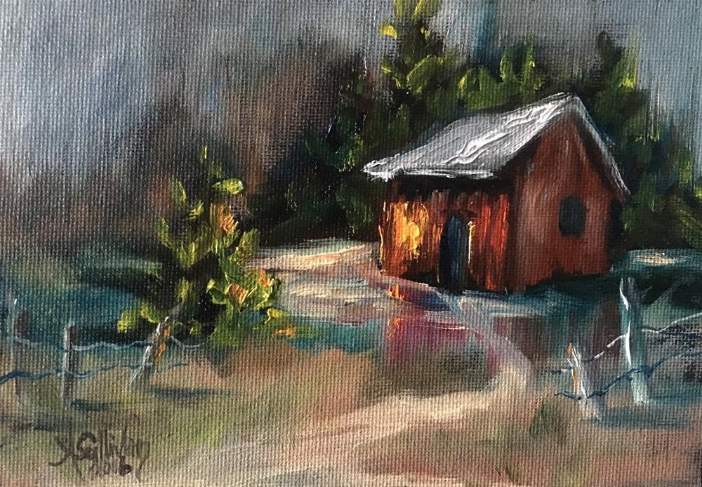 """Cozy Comfort landscape painting by Alabama Artist Angela Sullivan"" original fine art by Angela Sullivan"