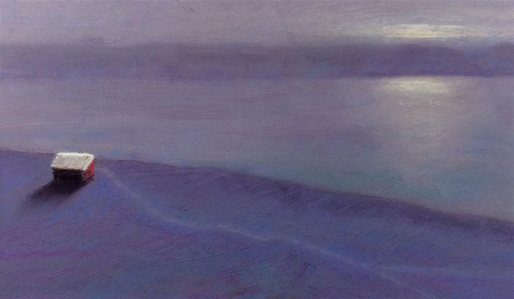 """River Shack"" original fine art by Cristine Kossow"