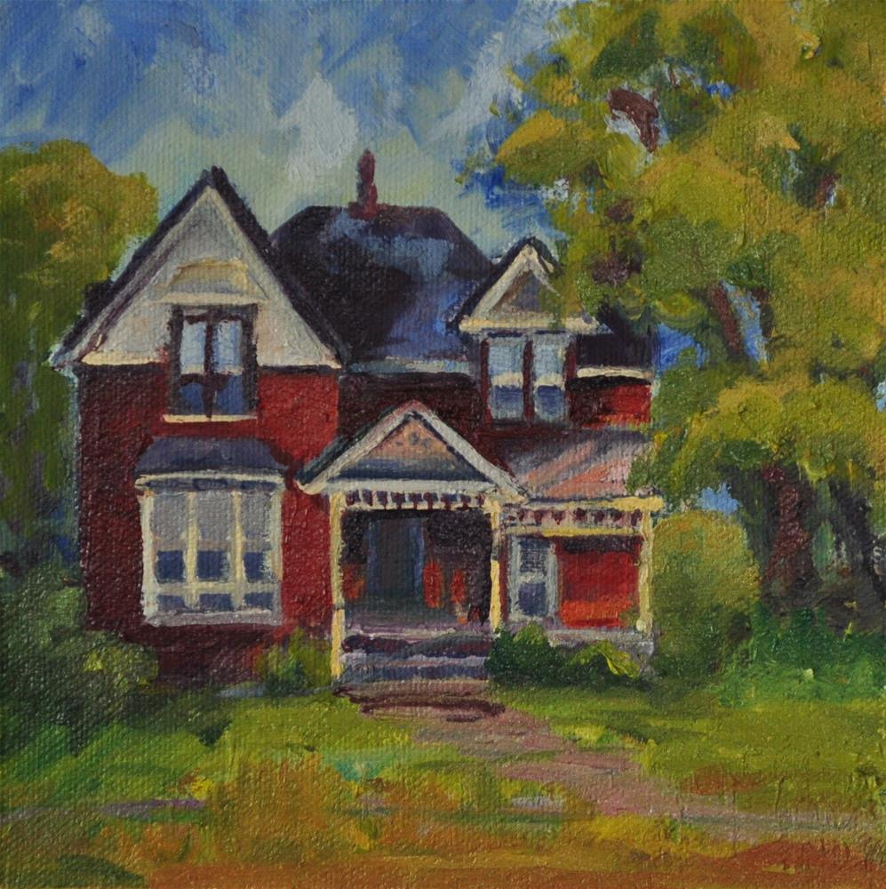 """Old Red House"" original fine art by Catherine Crookston"