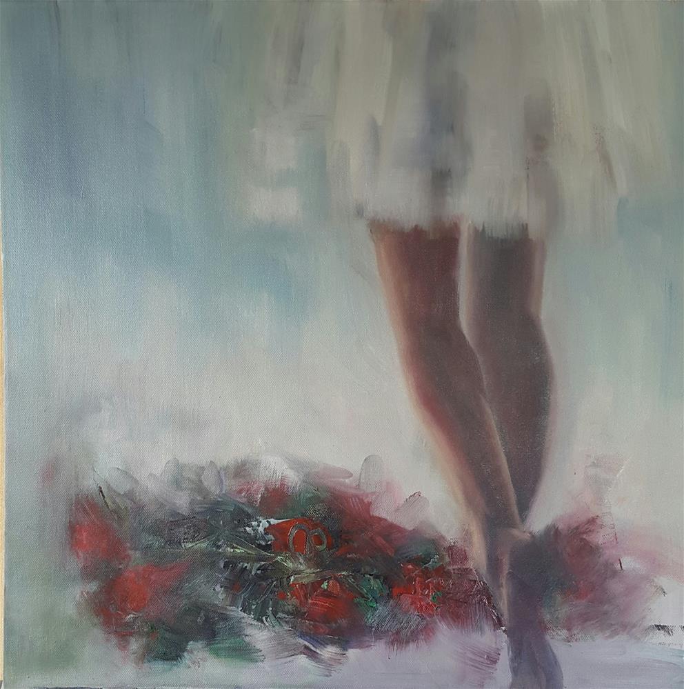 """The red carpet"" original fine art by Rentia Coetzee"