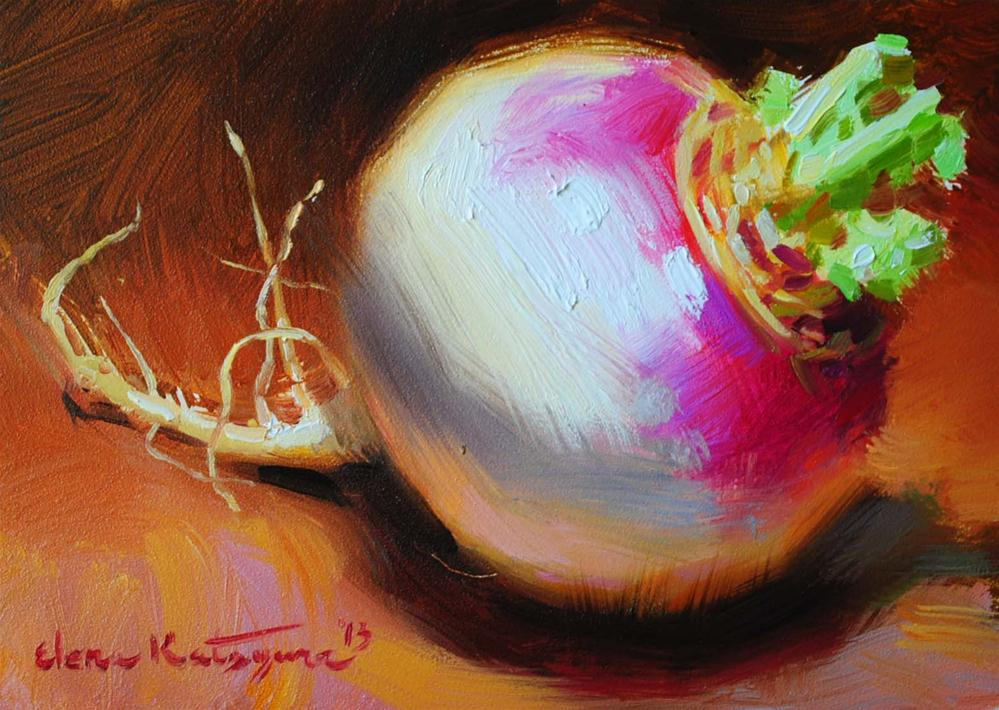 """One Turnip"" original fine art by Elena Katsyura"