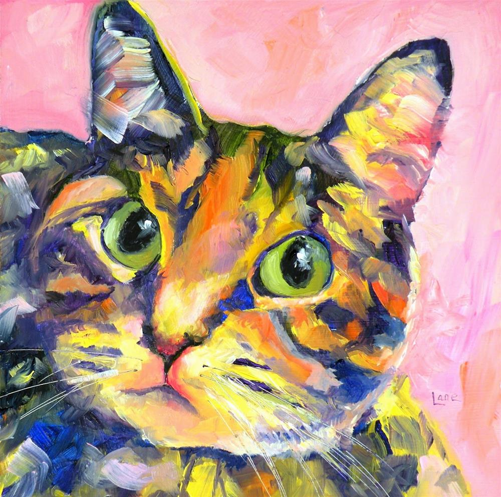 """AUDREY 25/100 of 100 PET PORTRAITS IN 100 DAYS © SAUNDRA LANE GALLOWAY"" original fine art by Saundra Lane Galloway"