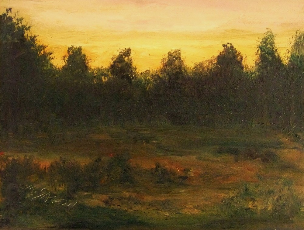 """A walk in the heath"" original fine art by Michael Sason"