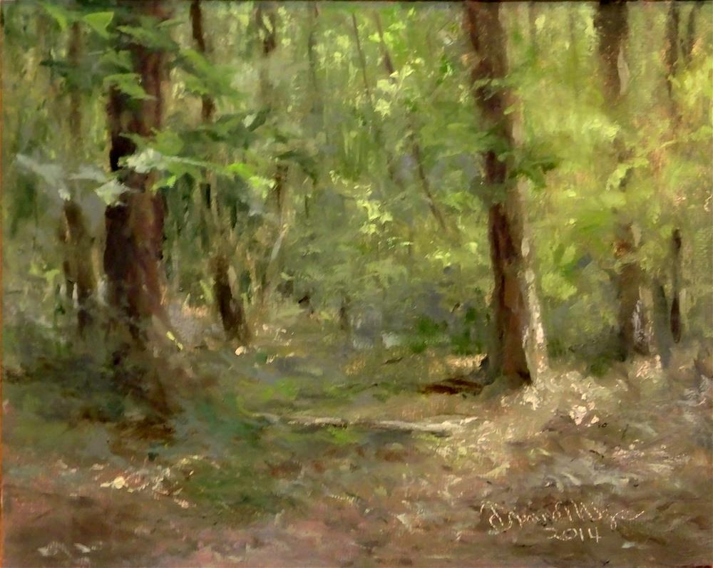 """August Woods, Two"" original fine art by Dianne Mize"