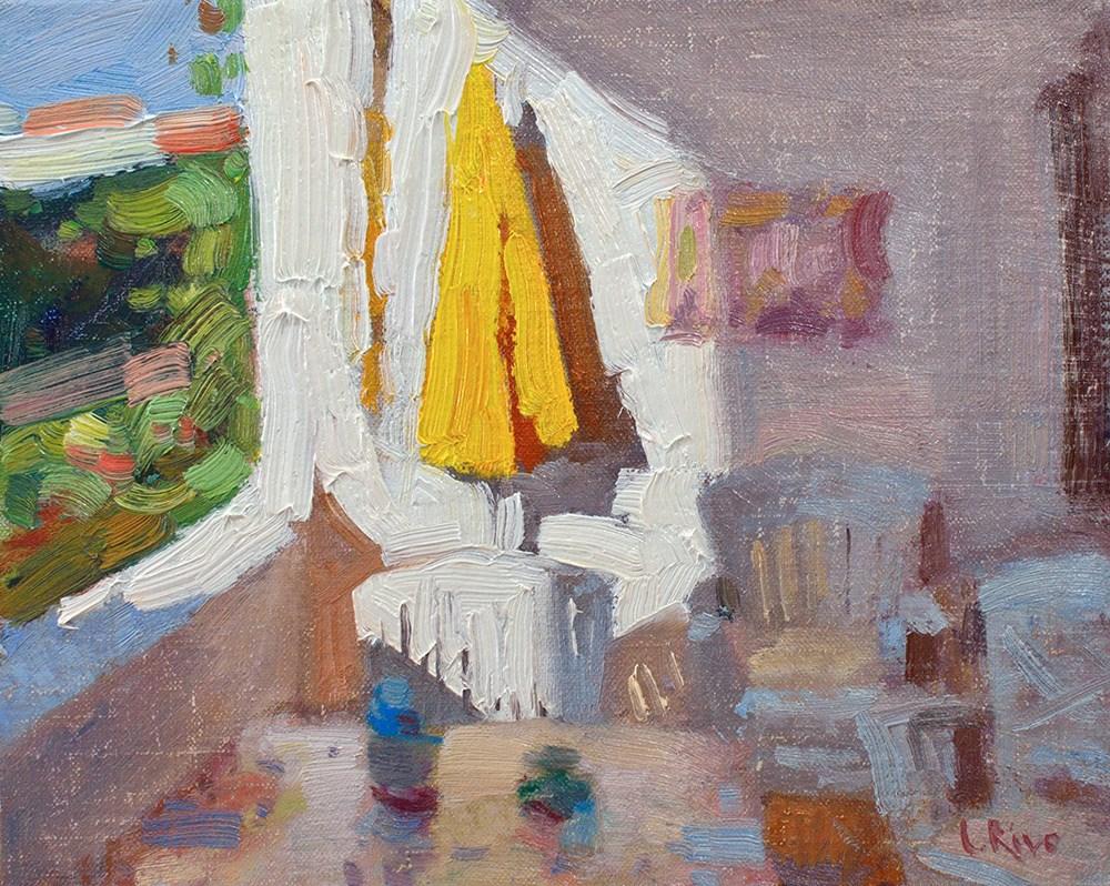"""Sunny Porch"" original fine art by Lena  Rivo"