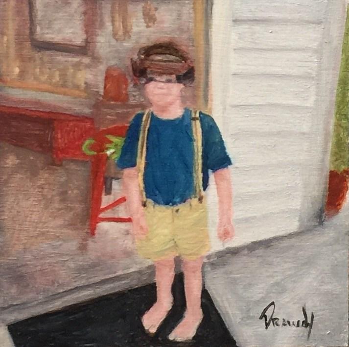 """Boy in Workshop"" original fine art by Stephanie Drawdy"