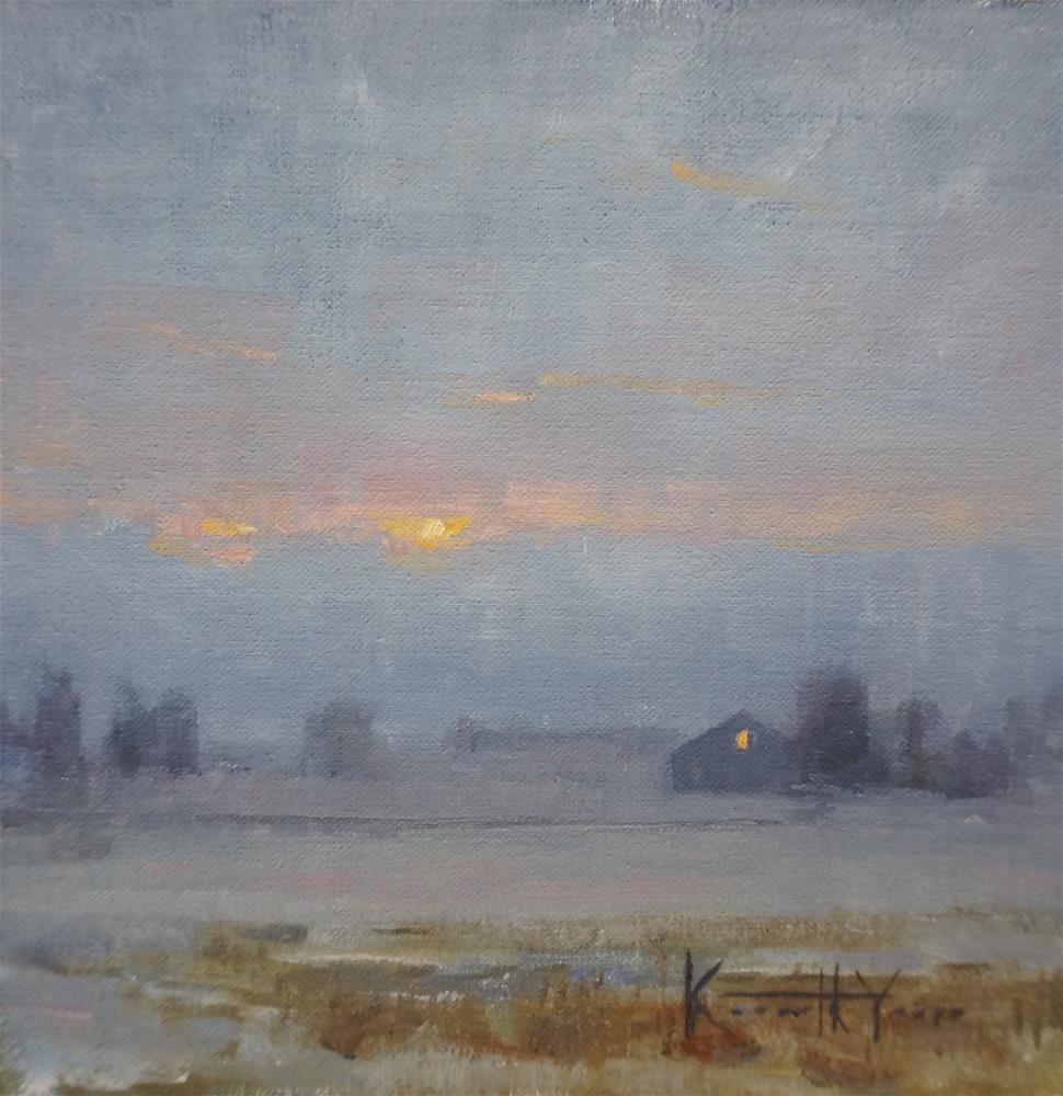 """Subtle Twilight"" original fine art by Kenneth Yarus"