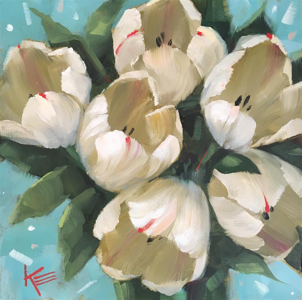 """""""Tulip Breeze"""" original fine art by Krista Eaton"""