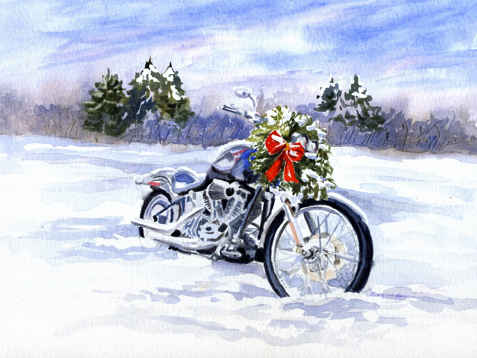 """Always a Good Day for a Ride"" original fine art by Vikki Bouffard"