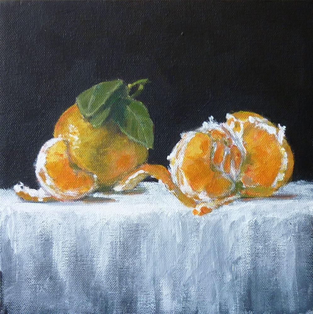 """Celebrating Oranges"" original fine art by Helene Adamson"
