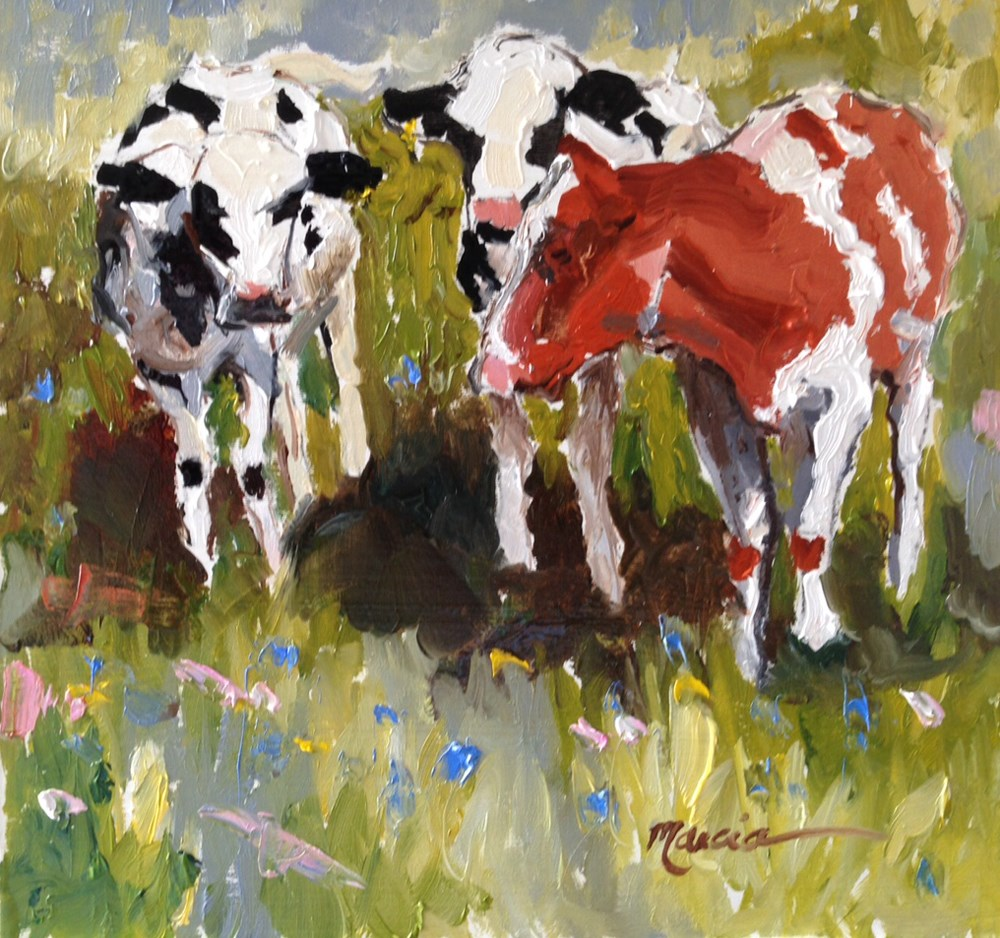 """Three's Company"" original fine art by Marcia Hodges"