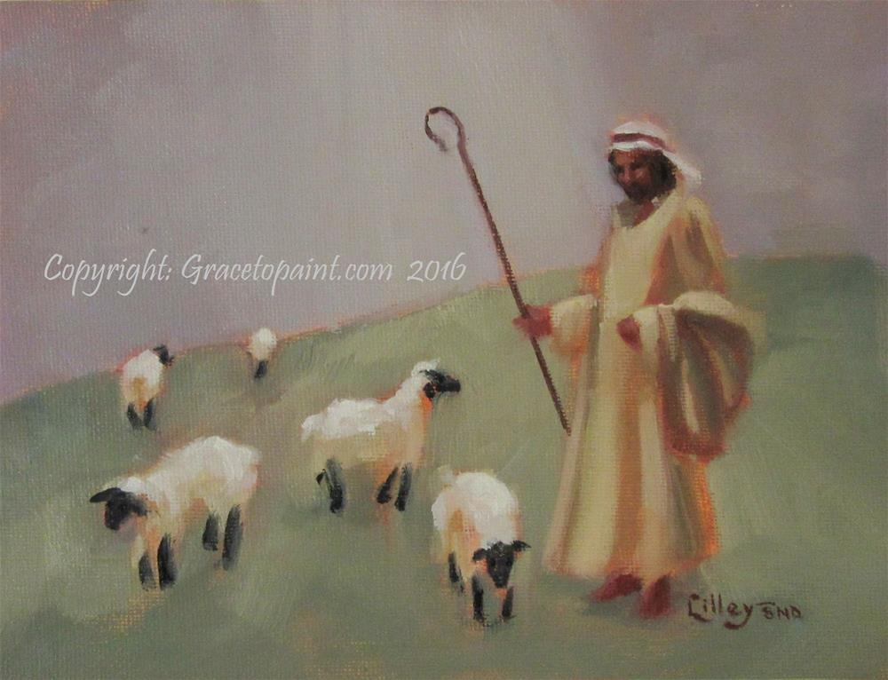 """Green Pastures"" original fine art by Maresa Lilley"