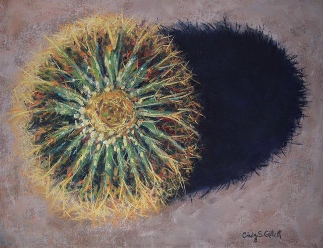 """Barrel Cactus"" original fine art by Cindy Gillett"