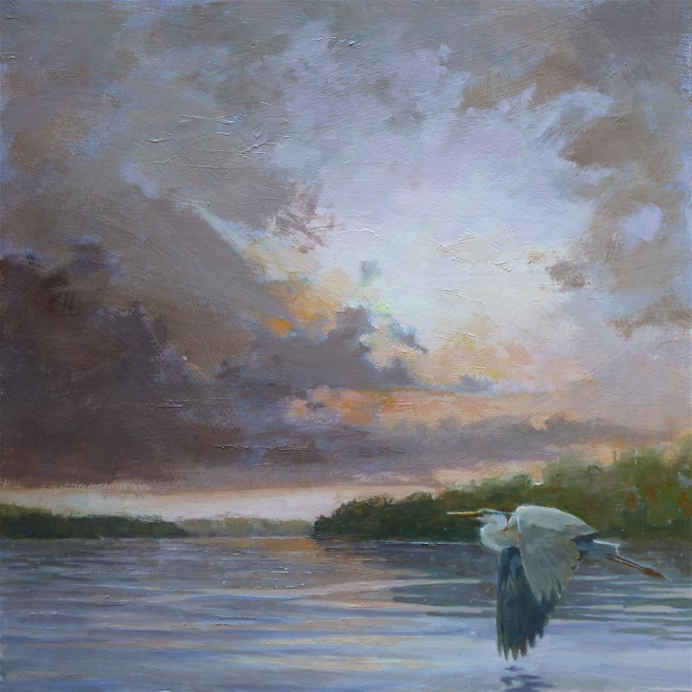 """Heron's View"" original fine art by Ron Ferkol"