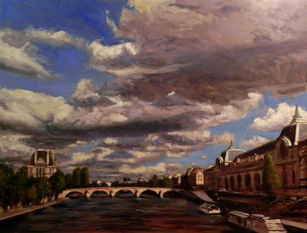 """View of the Seine II"" original fine art by Jonelle Summerfield"
