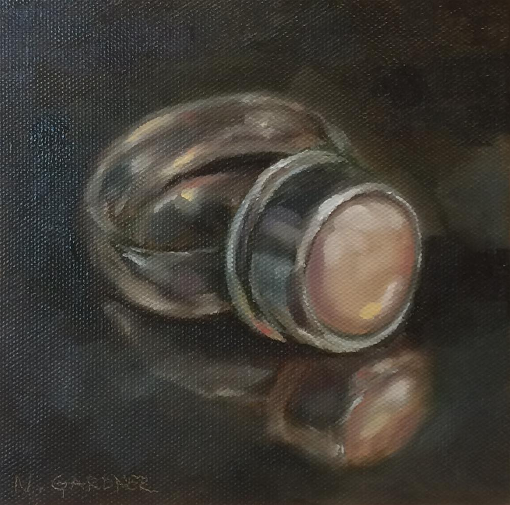 """Pearl Ring"" original fine art by Nikki Gardner"