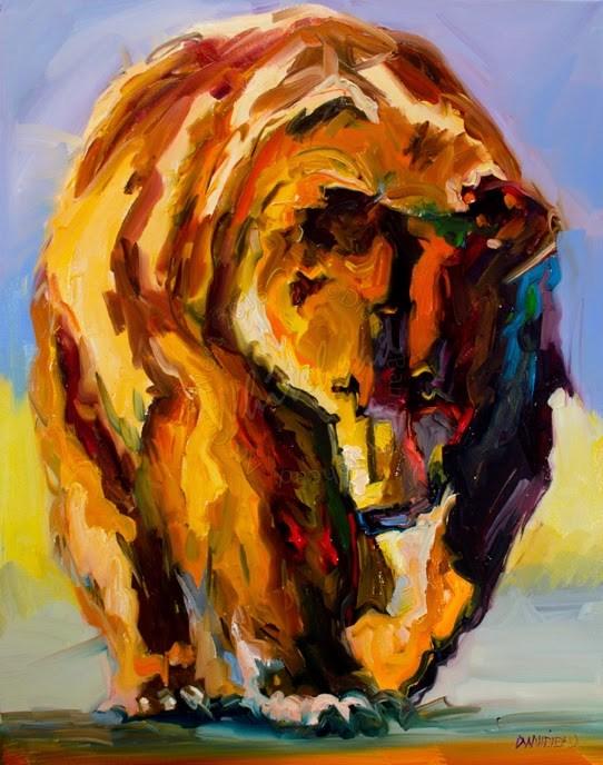 """ARTOUTWEST DIANE WHITEHEAD FINE ART Bear, Wildlife art"" original fine art by Diane Whitehead"