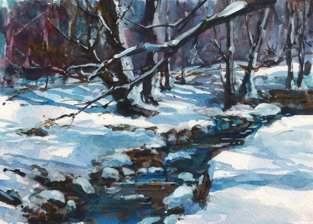 """A Winter's Day"" original fine art by Linda Henry"