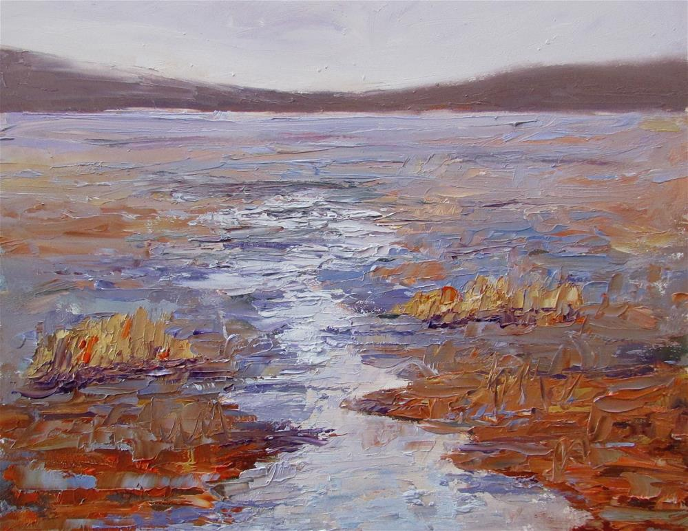 """8 x 10 inch study of a Marsh"" original fine art by Linda Yurgensen"