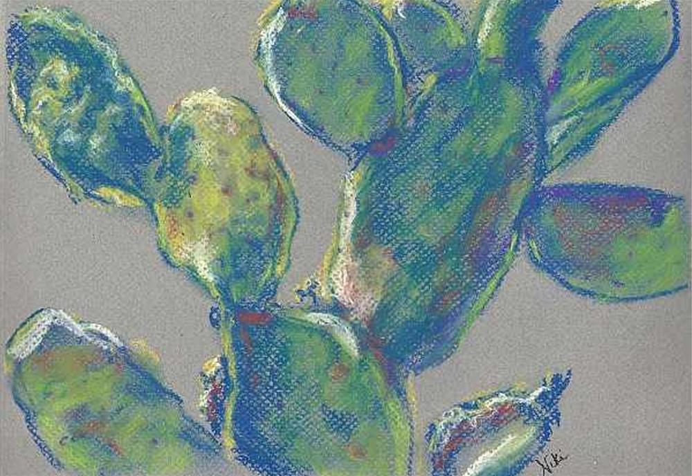 """""""Plein Air Cactus"""" original fine art by Niki Hilsabeck"""