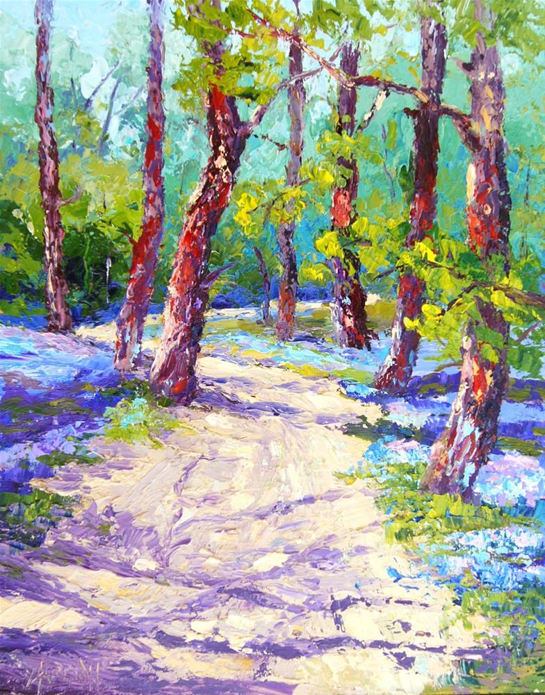 """Bluebell Woods"" original fine art by Marion Hedger"