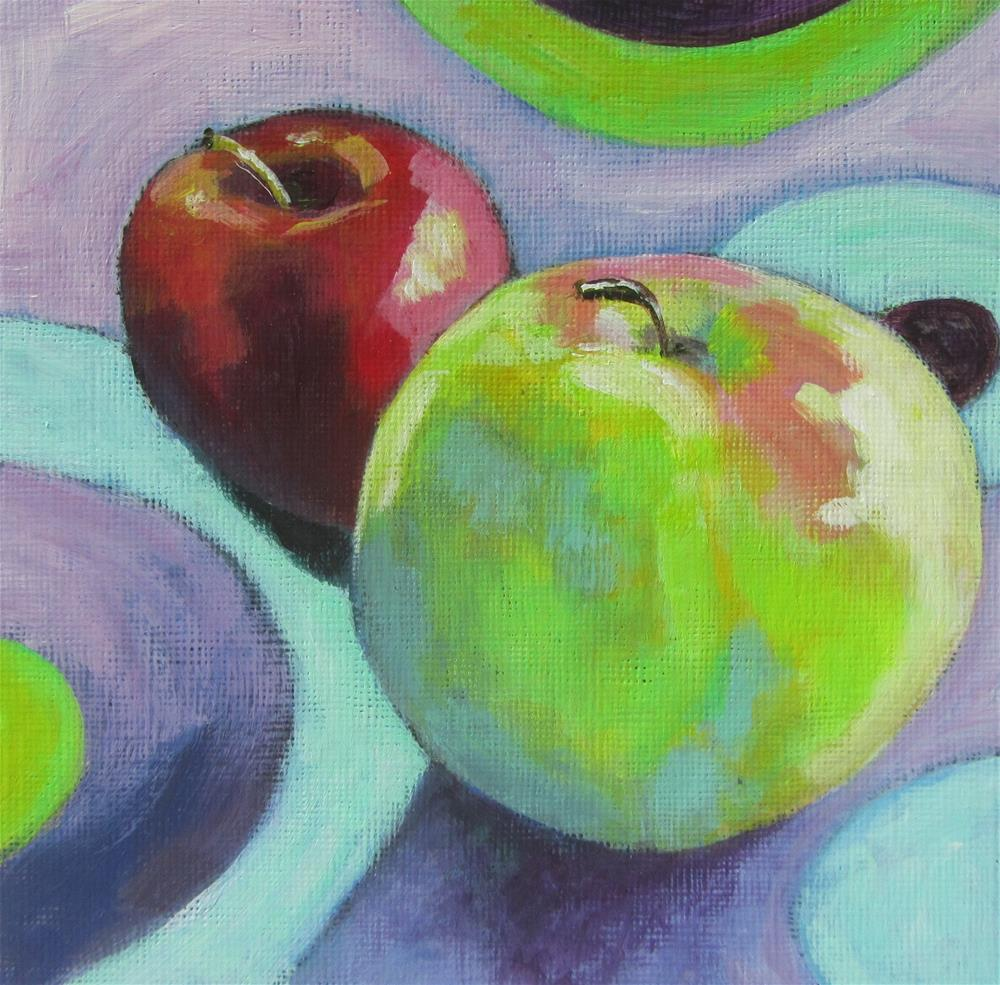 """Apple a Day #11"" original fine art by Patricia MacDonald"