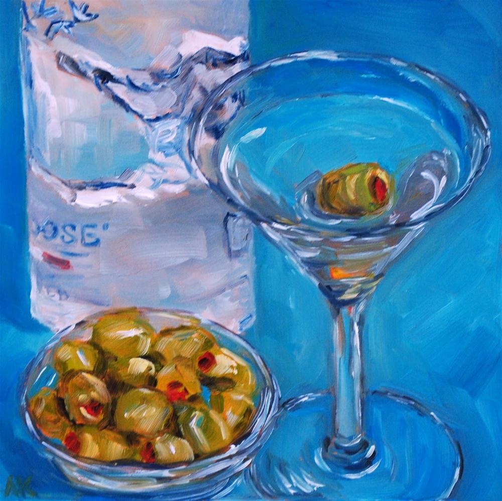 """One Olive Martini"" original fine art by Alison Kolkebeck"