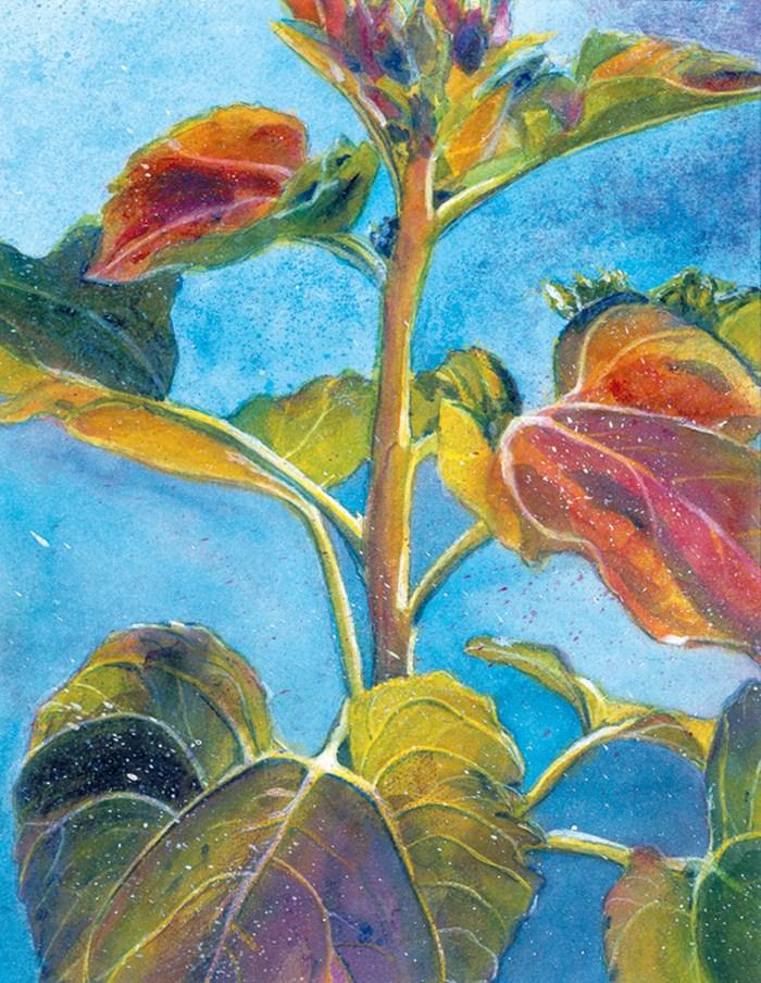 """Brilliant Sunflower"" original fine art by Pamela Gatens"