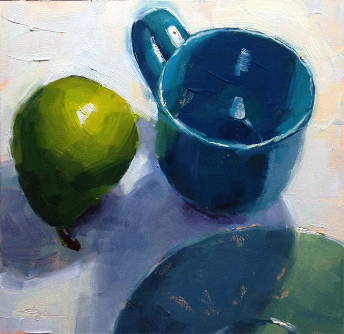 """Green Harmony"" original fine art by Katia Kyte"