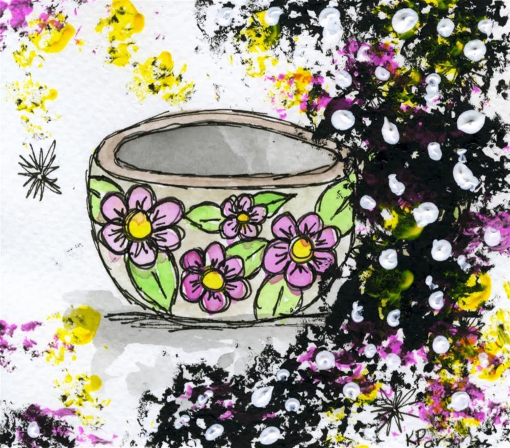 """Coffee or Tea?"" original fine art by Kali Parsons"