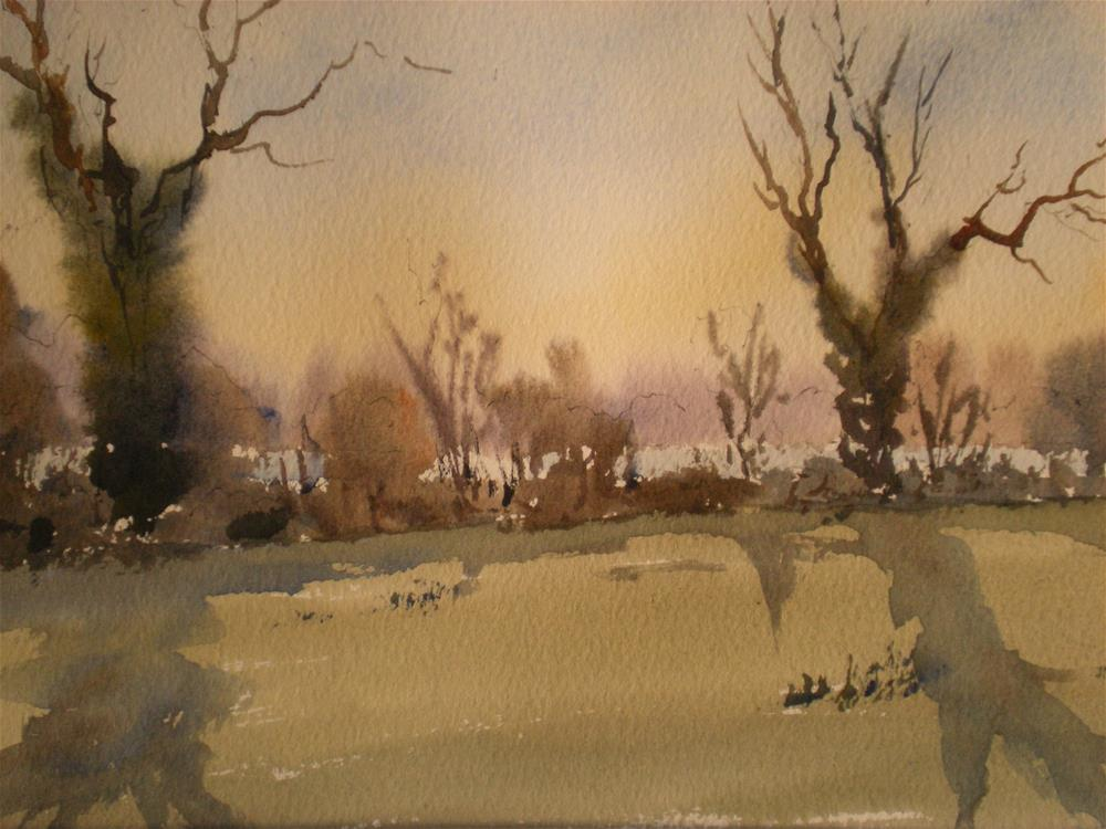 """January morming"" original fine art by Graham Findlay"