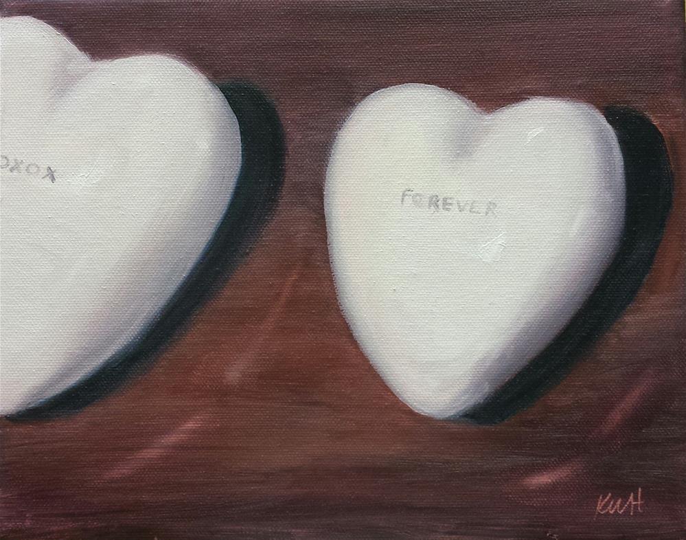 """Xoxox Forever"" original fine art by Kim Homes"